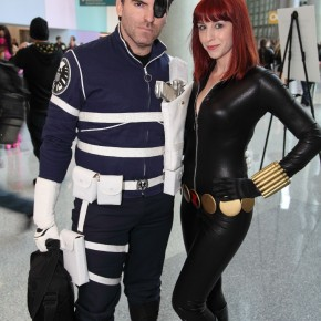 WonderCon 2012 Day 2 - Nick Fury and Black Widow