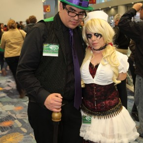 WonderCon 2012 Day 2 - Riddler and Harley Quinn