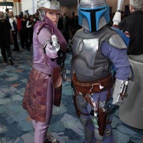 WonderCon 2012 Day 2 - Zam Wesell and Jenga Fett