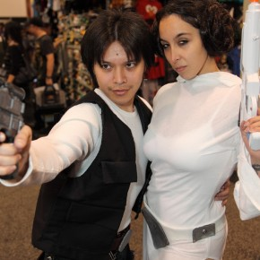 WonderCon 2012 Day 3 - Han Solo and Princess Leia