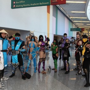 WonderCon 2012 Day 3 - Mortal Kombat crew