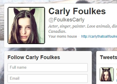 Why Isn't Carly Foulkes Verified On Twitter?
